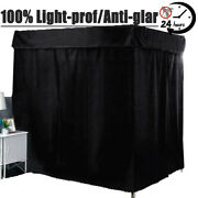 100 Lightproof Windproof 4 Corner Post Bed Curtain Canopy Mosquito Net Canopy