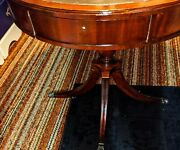 Antique Drum Table W/drawer Unreal Low Price Unique And Perfect Condition
