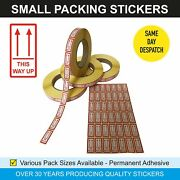 This Way Up - Small Red Postal Sticky Labels / Stickers