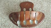 Mid Century Woodcroftery Cherrywood Danish Wall Pocket Sconce Ster.silver Spoons