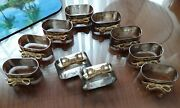 10 New-other Eye Catching Silver With Gold Tone Bow Oblong Napkin Holder Rings