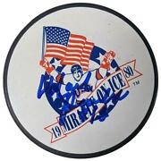 Mark Pavelich Autographed Miracle On Ice Puck 1980 Usa Olympic Hockey Charity