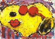 Tom Everhart Hand Signed Very Cool Dog Lips In Brentwood California Lithograph
