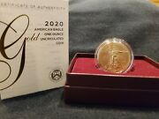 2020 American Eagle One Ounce Gold Uncirculated 20eh 7000 Mintage
