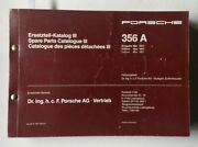 Porsche 356 A Spare Parts Catalogue Iii With 1500 Gs Carrera Parts Used