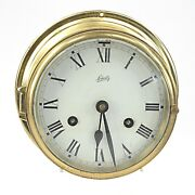 Vintage Brass Marine Ships Clock By Schatz Instruments For Repair Or Display