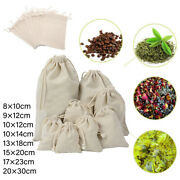 Handmade Solid Color Sachet Linen Sack Pouch Gift Pouch Jute Drawstring Pouch