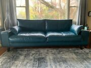 Mid-century Modern Leather Couch. Perfect Condition - Out Of The Box.