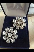 Vintage Jewelry 1940and039s Set Of 2 Sparkling Brooch Pins