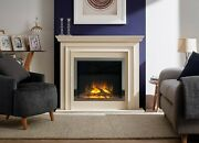 Modern Electric Fireplace Suite Flamerite Fire Princeton Free Standing Nitra