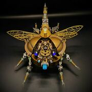 Diy 3d Metal Rotatable Beetle Model Building Kit With Voice Control Puzzles