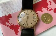 Rare, Full Set Exceptional New And Unworn 1983 Vintage 9k Gold Omega Watch