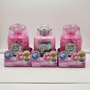 Pikmi Pops Cheeki Puffs Perfume Bottle W/scented Plushie Andsurprises-lot Of 3 New
