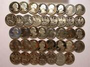 Clad Washington Quarters Proof Roll 10 Face Value Mixed Dates R991