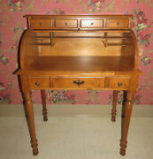 Tell City Chair Company Roll Top Desk 875 Hard Rock Maple Andover Finish