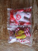 Lot Of 2 Mcdonalds Tennie Beanie Ty Bears 2004 New In Pkg. Shake And Ronald