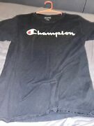 Champion Gt280 Classic Jersey Script T-shirt For Menand039s Size L - White/navy...
