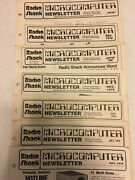 Lot Of 7 1979 And 1980 Radio Shack Trs-80 Microcomputer Catalog Newsletter