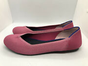 Mint Rare Retired Rothyand039s Flat Us 11 Birdseye Pink White Luxury Ballet Flats D4