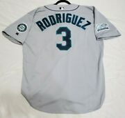 Authentic Russell Athletic 52 2xl Alex Rodriguez Seattle Mariners Jersey Rare