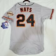 Majestic Willie Mays 48 Xl Signed Authentic Holo San Francisco Giants Jersey