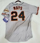 Majestic Willie Mays 52 2xl Signed Authentic Holo San Francisco Giants Jersey
