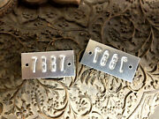 Jaguar And Other Makes Body Number Firewall Plate Custom Made With Your Number
