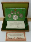 Singapore 1979 7-coin Proof Boxed Set Inc Silver Communication Satellites 10