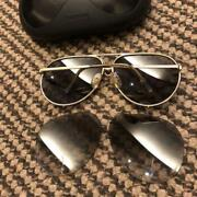 Porsche Design Carrera Sunglasses Men's With Case And Spare Lens Used Vintage