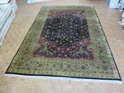 11and0396 X 17and0394 Hand Knotted Navy Blue Fine Bidjar Oriental Rug G633