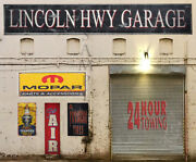 O Scale Scratch Build Building Lincoln Garage Flat Front Sticker Easy Flats