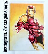 Aceo Avengers Iron Man Sketch Card Artist Howler 1/1 Only One