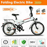 20 Folding Electric Bike City Ebike 36v Removable Lithium-ion Battery 7 B S T 13
