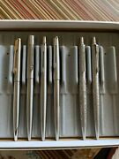 6 Parker Jotter Prototypes Brass Threads And Parker Falcon And Parker 45 And 15