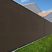 4ft Large 170gsm Fence Windscreen Privacy Screen Shade Cover Mesh Garden-brown