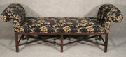 Very Long Chippendale Baker Furniture Mahogany Window Bench Bedroom Seat