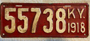 Good Solid 1918 Kentucky License Plate See My Other Plates