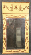 Creme Paint Decorated Gilded French Louis Xv Wall Mirror