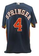 George Springer 2014 Game Used Rookie Year Houston Astros Home Jersey Mlb