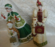 Avon 2003 And 2006 Mrs Albee Award Figurines Lot Of 2