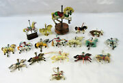 Vintage Carousel Horses -music Box, Wallace Silversmiths Gold Plated, Ornaments