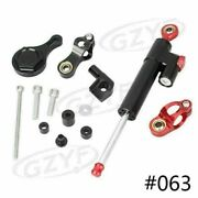 Set Cnc Steering Damper With Bracket Kits For Yamaha Yzf R6 2006 2007-2014 2015