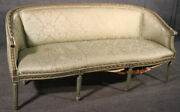 Paint Decorated Gilded French Louis Xvi Style Settee Canape Sofa Circa 1950