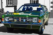 Ford Cortina Mk 3 Estate Beverley Car Poster Satin Canvas Picture 20 X 30