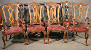 Set Of 8 Italian Provincial Style Walnut Dining Chairs C1950