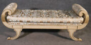 Hollywood Regency Silver Leafed Carved Gondola Form Bench Chaise, C1990