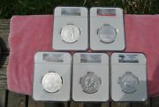 2013 Ngc America The Beautiful 5 Oz Set Sp70 Early/first Releases