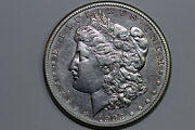 1903-s Morgan 90 Silver Dollar Cleaned Obv. Grades About Uncirculated Dean211