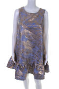 Slate And Willow Womens Burning Gold Dress Blue Size 12 10907070