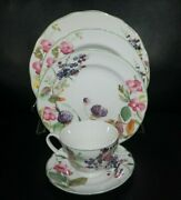 New Charter Club Wild Flowers Dinnerware 5 Piece Place Setting Plates Bowl Cup